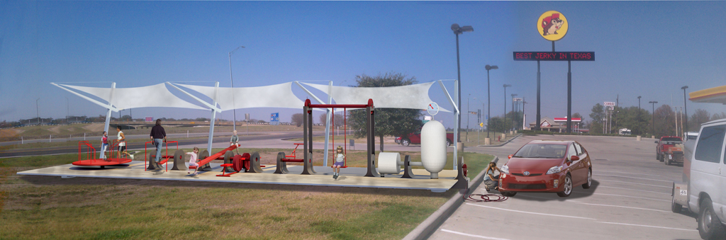Power Playground is an outdoor exercise and energy station