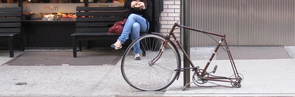 Abandoned bike in NYC