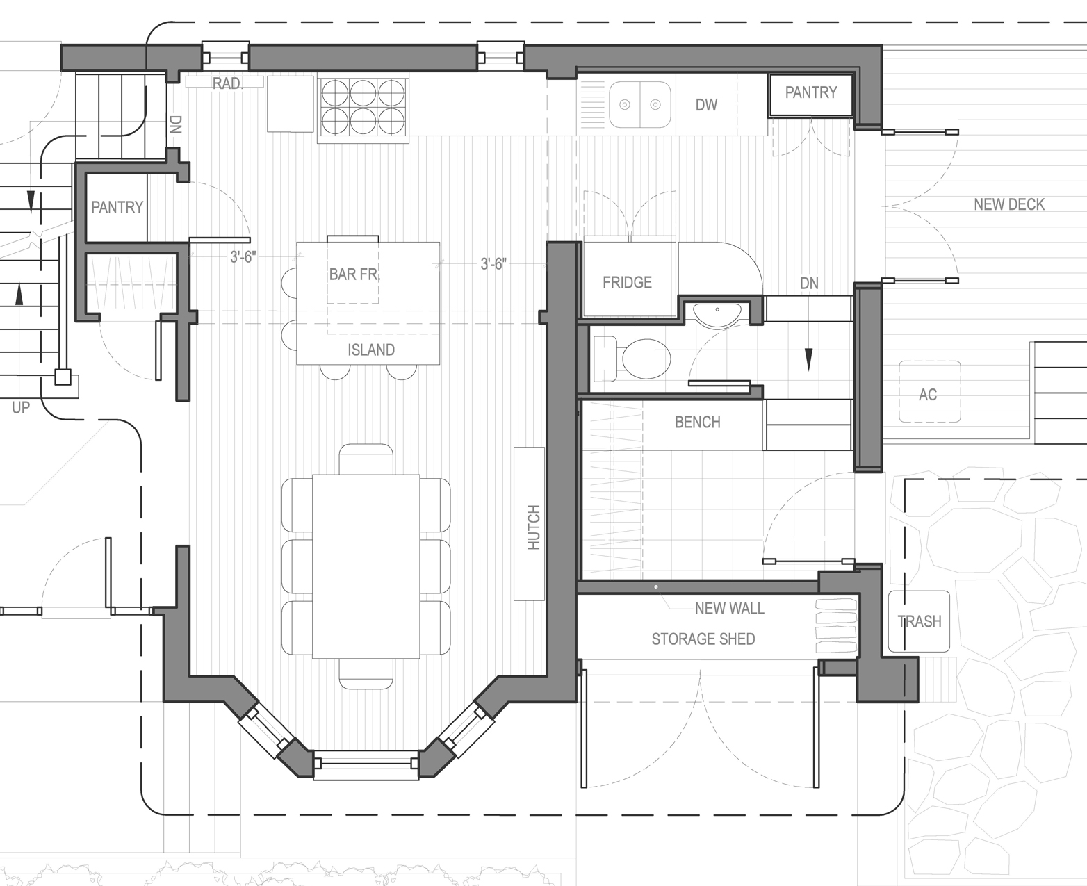 Residential work pilot projects for Two kitchen house plans